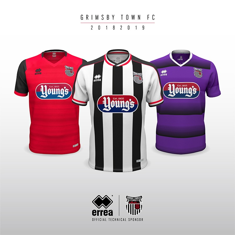 Classical yet bold sums up Grimsby Town FC's new kits for 2018-2019 created by Erreà Sport