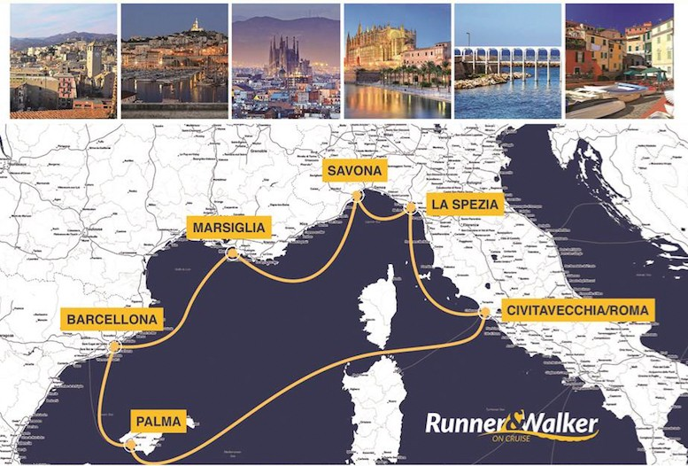 Erreà is the technical partner for Runner&Walker on Cruise, the only cruise in the world that combines holidaying with running!