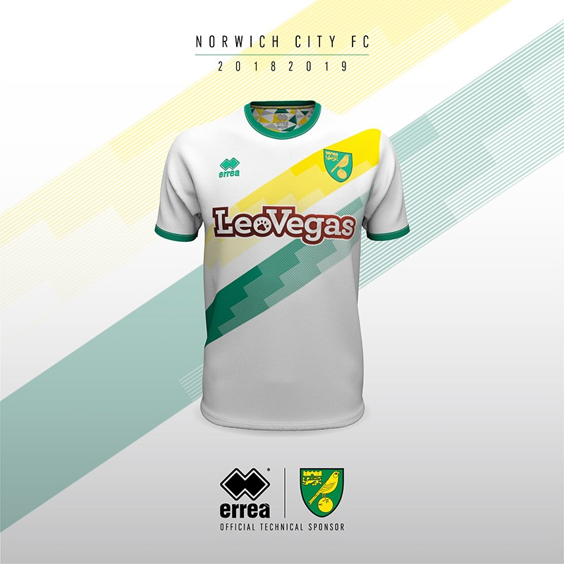 Erreà Sport and Norwich City F.C. unveil the new away shirt for the coming 2018-2019 league season