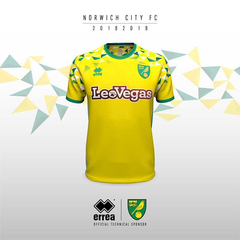 Erreà Sport and Norwich City F.C. unveil the new home kit for the coming 2018-2019 league season