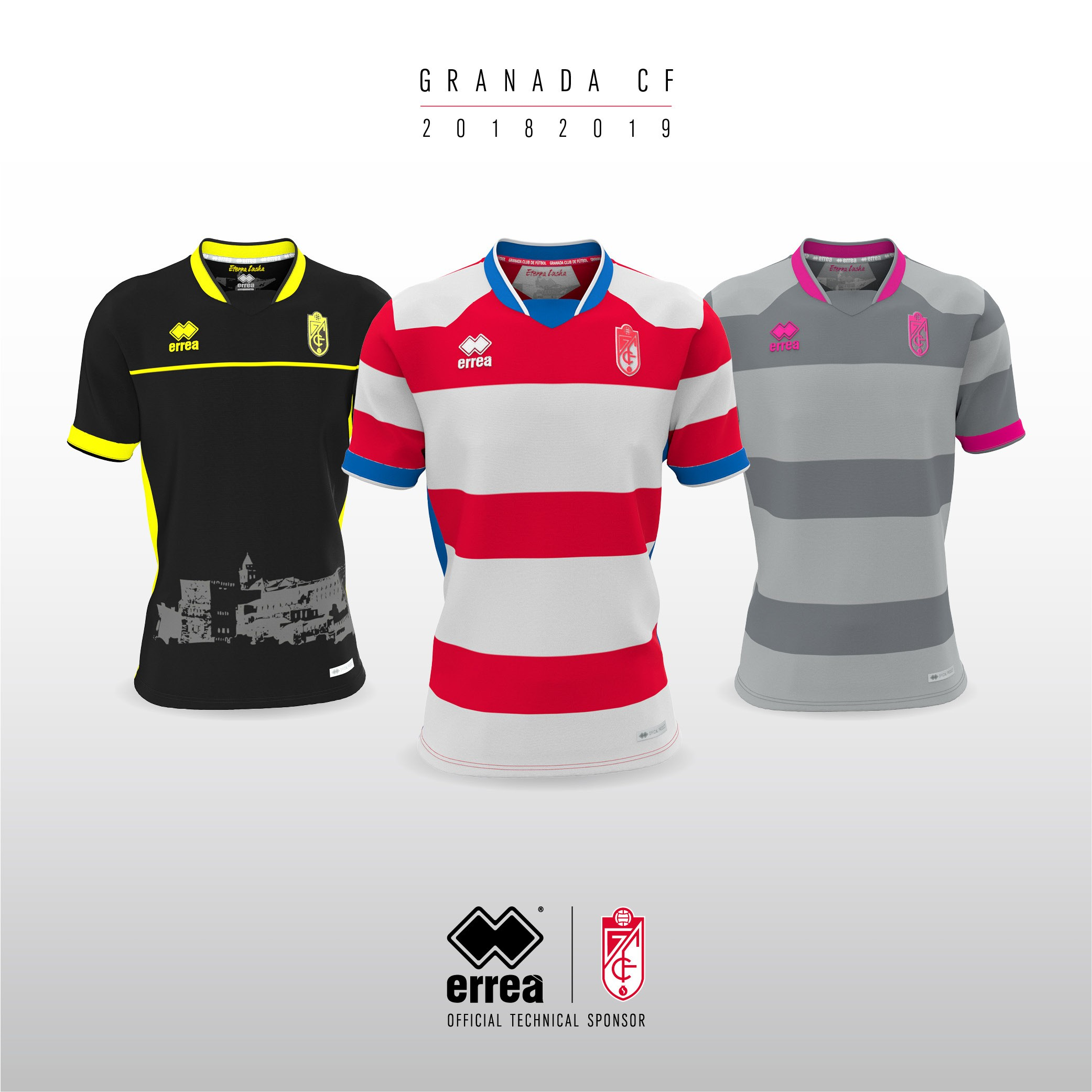Granada CF's new official 2018-2019 shirts from Erreà Sport bring together the classical and the innovative