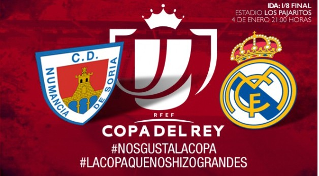 Great anticipation for the forthcoming Copa del Rey match on Thursday 4 January between Numancia and Real Madrid