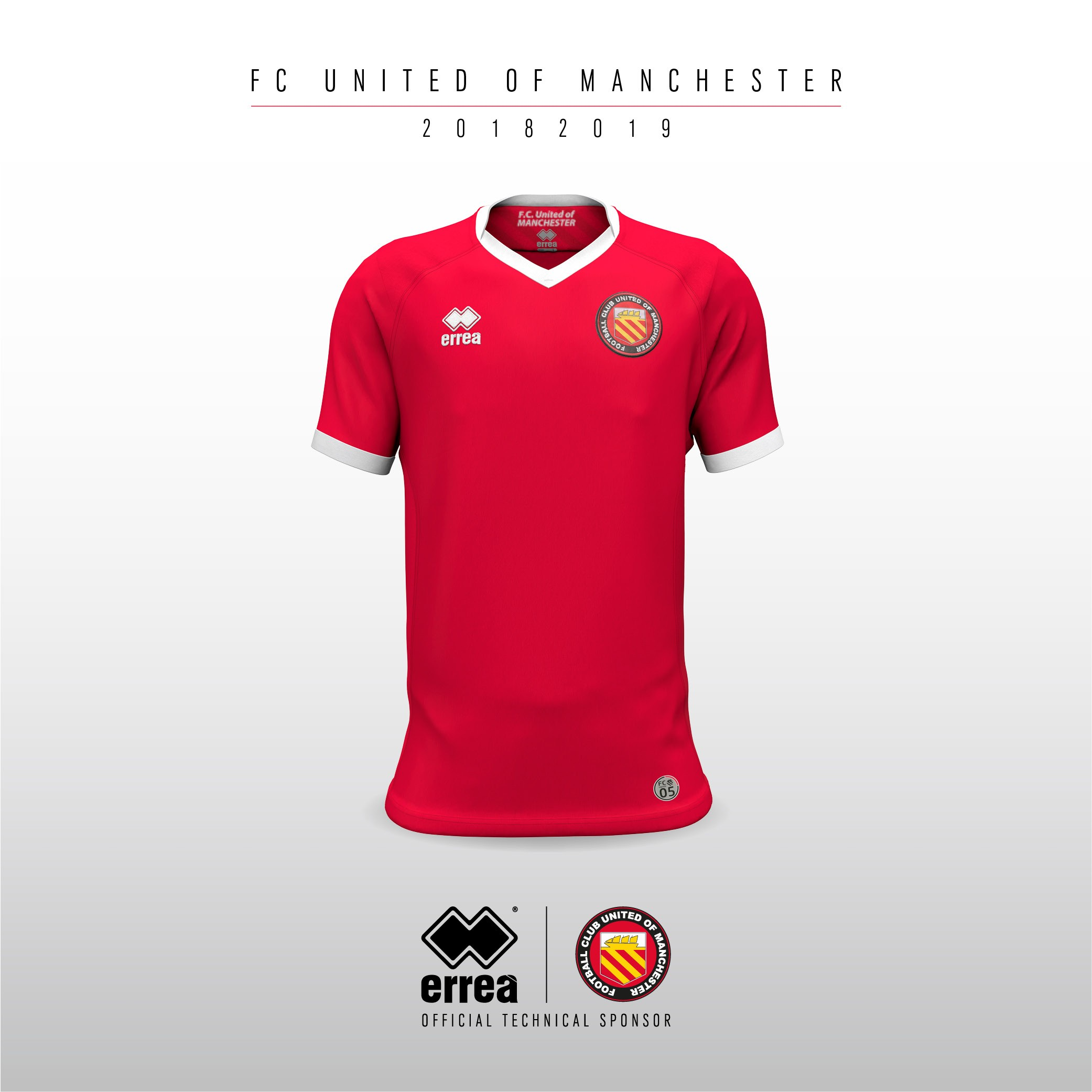 Technical features and sharp lines characterise F.C. United of Manchester's new 2018-2019 home kit