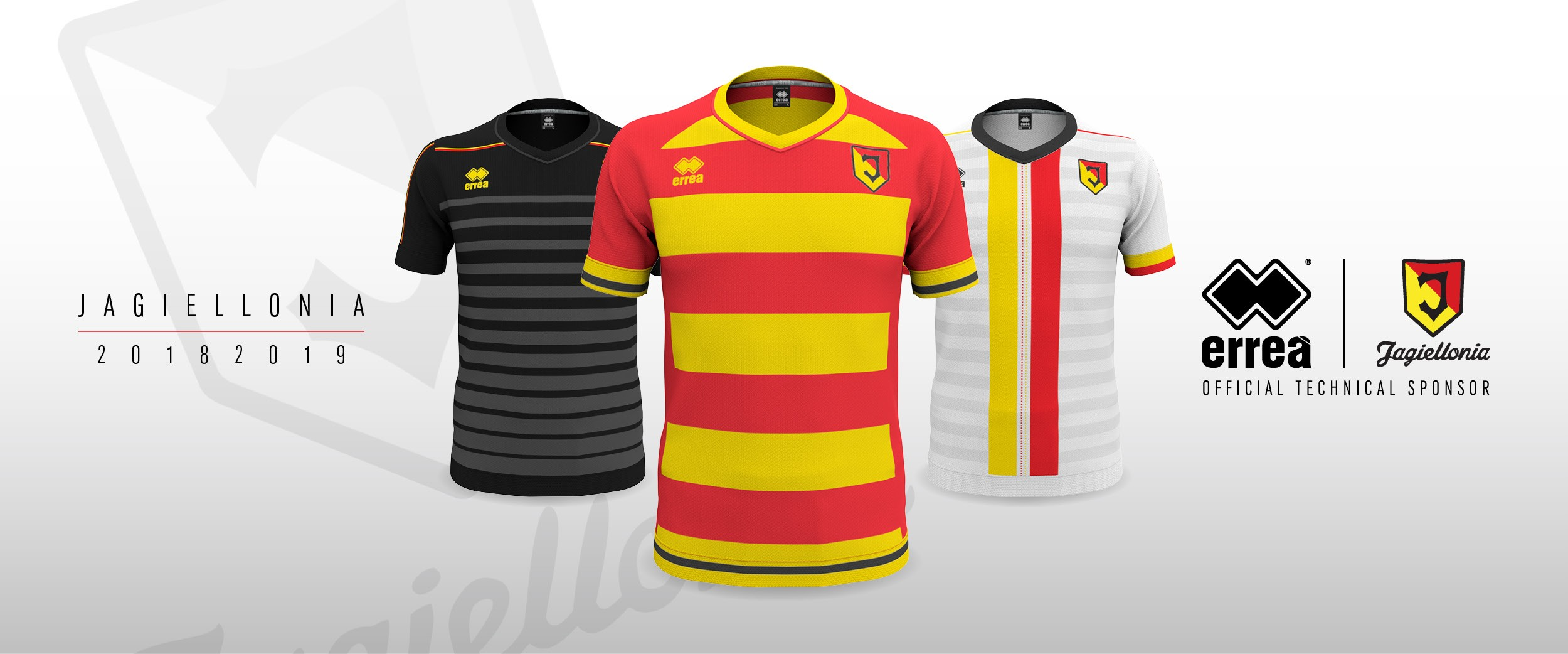 Tradition combines with a desire for change in the new 2018-2019 kits for Jagiellonia Bialystok from Erreà Sport