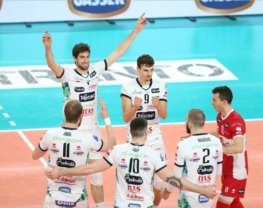 Trentino Diatec reaches the Playoffs 6 of the Champions League. Chaumont beaten!