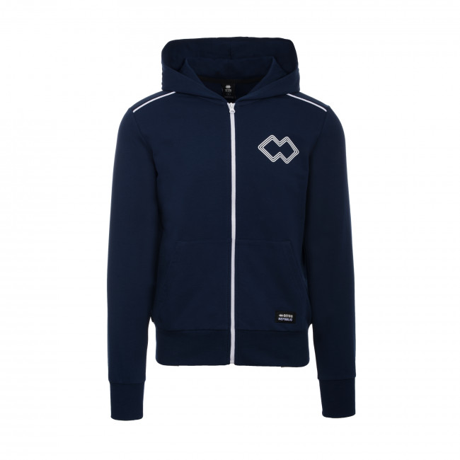 TREND SS19 MAN FULL ZIP LOGO SWEATSHIRT JR BLU - REPUBLIC