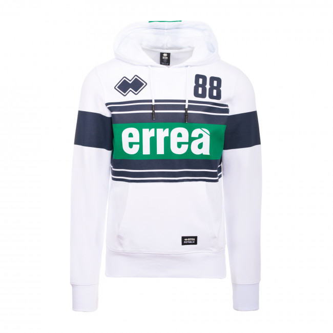 SPORT INSPIRED SS20 MAN RUGBY HOODY 040 AD BIANCO - REPUBLIC